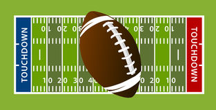Football touchdown field. American Football touchdown field yards Royalty Free Stock Photos