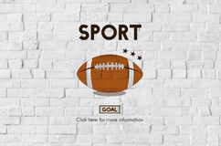 Football Touchdown Sport Graphics Concept Stock Photo