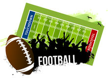 Football touchdown win Royalty Free Stock Photography