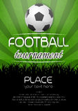 Football tournament background with ball Royalty Free Stock Images