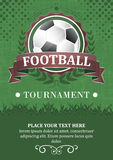 Football tournament  background. Stock Images
