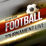 Football tournament broadcast background design. Vector Royalty Free Stock Images