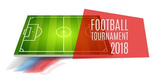 Football tournament, cup 2018. Soccer championship background design. Element for design cards, invitations, gift cards. Flyers, brochures Vector illustration Stock Photo