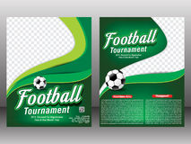 Football tournament flyer & magazine template Stock Photography