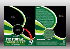 Football Tournament Flyer Template Royalty Free Stock Image