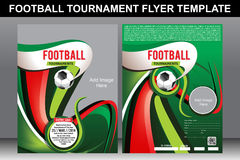 Football Tournament Flyer Tepmplate Royalty Free Stock Images