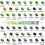 2104, football tournament icons set Brazil, vector. Football tournament icons set Brazil, for a magazines and tv translations, vector Royalty Free Stock Image