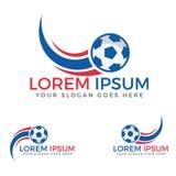 Football sport  logo design template. Football Tournament or league logo design. Manufacturing company logo Stock Image