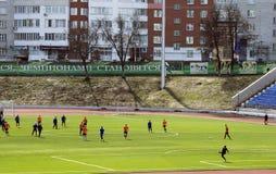 Football tournament in memory of Oleg Antoshkin Stock Photo