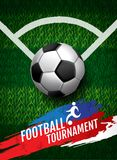 Football tournament, Soccer, cup, green field ,Design Background. Template, Vector Illustration Stock Images