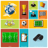 Football Tournament And Sport Flat Icon Design Royalty Free Stock Photography