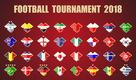 Football tournament 2018. Vector illustration. Football / soccer tournament 2018 Stock Photos