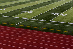 Football and track Stock Photo