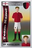 Football Trading Card. Illustration of a Football Trading Card royalty free illustration
