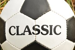Football traditional, classic ball Stock Photos