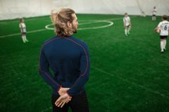 Football trainer royalty free stock photography
