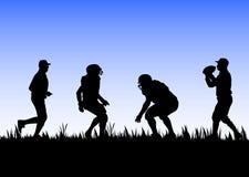 Football training. Vector illustration background Royalty Free Stock Photos