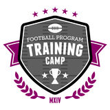 Football training camp emblem Royalty Free Stock Photos