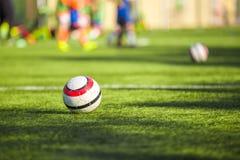 Football training for children. Football soccer futsal training game for children Stock Photos