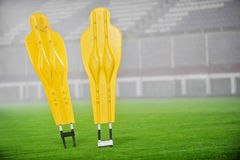 Football training dummies Royalty Free Stock Photo