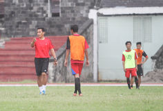 Football training Stock Images