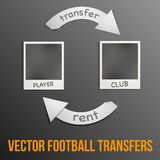 Football transfers vector illustration Stock Photos
