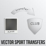 Football transfers vector illustration Royalty Free Stock Photography