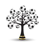 Football tree. The tree with the footballs as a symbol of the World Cup Stock Photography