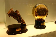Free Football Trophies In Real Madrid Exhibition Stock Image - 36065541