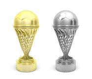 Football trophies Stock Images