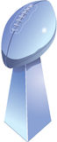 Football Trophy. Chromed football trophy, isolated with white background Stock Photo