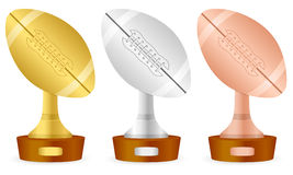 Football trophy set Stock Photos
