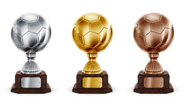 Football trophys Royalty Free Stock Photography