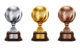 Football trophys Royalty Free Stock Photography