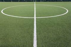 Football turf. Playing Field (Sports Venue Stock Image
