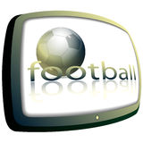 Football and TV Royalty Free Stock Image