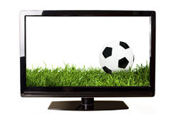 Football on TV Royalty Free Stock Image