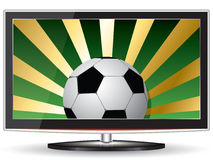 Football tv Royalty Free Stock Photo
