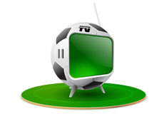 Football tv Royalty Free Stock Photography
