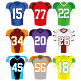 Football Uniforms Isolated On White Background Stock Photo