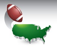 Football united states icon Stock Photography