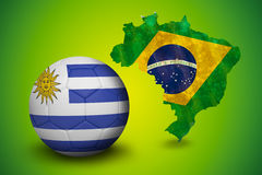 Football in uruguay colours Stock Images