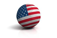 Football USA. On white background Royalty Free Stock Photography