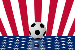 Football on the USA flag Royalty Free Stock Image