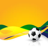 Football vector design. Wave style football vector design Royalty Free Stock Photos