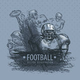 Football. Vector illustration Stock Images