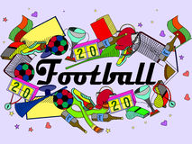 Football vector illustration Stock Images