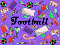 Football vector illustration Stock Image