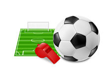 Football. Vector illustration of  football objects Stock Image