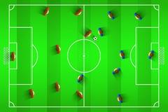 Football vector illustration. Uruguay Football Club line-up on Pitch, vector design Stock Photos